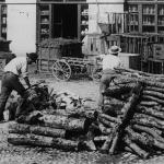 Besançon Place Labourey - Scieurs de bois